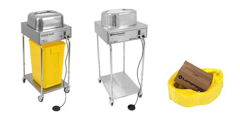 Pactosafe range of clinical waste removal products for hospitals
